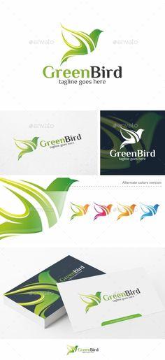 Green Bird Logo Template #design #logotype Download: http://graphicriver.net/item/green-bird-logo-template/13796455?ref=ksioks