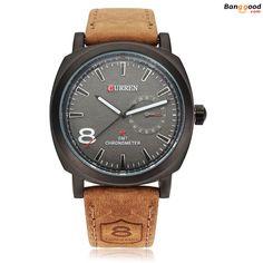 8428853ce96 CURREN 8139 Sport Military Leather Wrist Watch  banggood