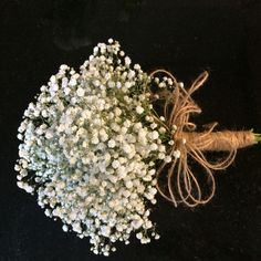 Bridesmaid bouquet of gyp hand tied wedding flowers Gypsophila is back in fashion!! Love this bridesmaid bouquet it has a dreamy, casual feel.