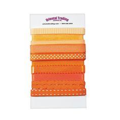 Orange Ribbon Assortment - OrientalTrading.com