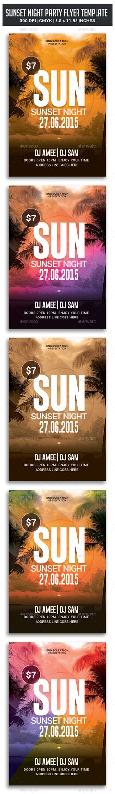 Sunset Night Party Flyer - Clubs & Parties Events