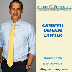 Are you get arrested for the criminal charge cases? Ashby C. Sorensen is one of the best #CriminalDefenseLawyerSanDiego for his highly expertise skills.
