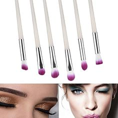 niceEshop(TM) Makeup Brushes Premium Mermaid RT Eyeshadow Makeup Brush Set Soft Artificial Fiber White Handle) ** Details can be found by clicking on the image. (This is an affiliate link) Eyeshadow Brushes, Eyeshadow Makeup, Makeup Brush Set, Makeup Tools, Fiber, Mermaid, Handle, Link, Image