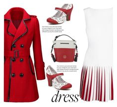 """""""Red and White"""" by juliehalloran ❤ liked on Polyvore featuring Alaïa, Tommy Hilfiger and WithChic"""