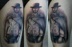 clint eastwood tattoo - savaş doğan matkap tattoo istanbul