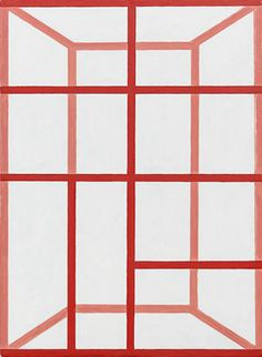 Andrew Spence, 2011, Red Pink White, Oil on canvas, 22h x 16w in.