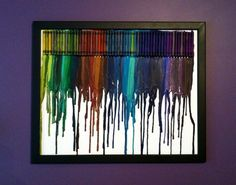Melted crayons as art.