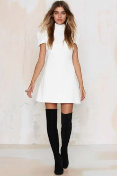 Nasty Gal Perfect Form Mini Dress - Clothes | Shift | Solid | Dresses