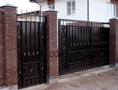 Ворота кованные металлические с калиткой. Купить, изготовить в Кривом Рогу по невысокой цене.