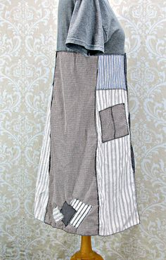 Womans Medium DressPatchwork ClothingUpcycled DressArtsy