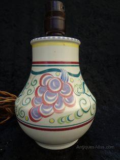 Antiques Atlas - Poole Potteries Lamp Base.