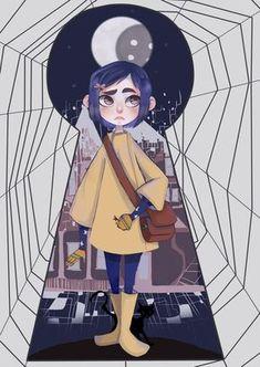 Coraline Jones by PastaNya.devianta… on Coraline Jones von PastaNya. Coraline Jones, Coraline Art, Animation, Coraline Aesthetic, Tim Burton Art, Fanart, Art Manga, Stop Motion, Cartoon Art