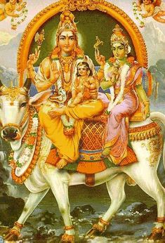 Lord Kartikeya in the lap of lord Shiva & lordess Parvati. Shiva Art, Ganesha Art, Shiva Shakti, Hindu Art, Lord Ganesha, Hindus, Tantra, Indian Gods, Indian Art