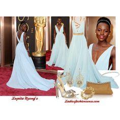 """Lupita Nyong'o Oscar 2014"" by ladiesfashionsense on Polyvore"