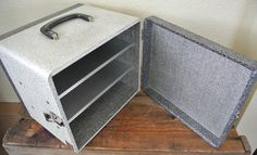 Vintage Slide Storage Case, Mid Century Storage Box, Zephyrlite Case With Aluminum Shelves. - pinned by pin4etsy.com