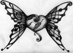 ideas for tattoo butterfly sketch wings Music Symbol Tattoo, Treble Clef Tattoo, Music Tattoos, New Tattoos, Small Tattoos, Tatoos, Butterfly Music, Butterfly Sketch, Butterfly Tattoos