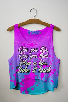 Fresh tops + one direction = PERFECT!! << I LOVE the colors and like paint splatter look too!!