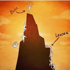 The Difference Between a Boss and a Leader. A boss manages their employees, while a leader inspires them to innovate, think creatively, and strive for perfection. Every team has a boss, but what people need is a leader who will help them achieve greatness Satire, Boss Vs Leader, Leader Vs Manager, Pictures With Deep Meaning, Art With Meaning, Fun Photo, Meaningful Pictures, Satirical Illustrations, Reality Quotes