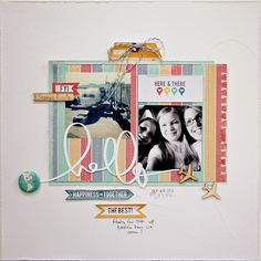 #papercraft #scrapbook #layout.  Carol Monson for Chic Tags