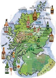 carte écosse whisky