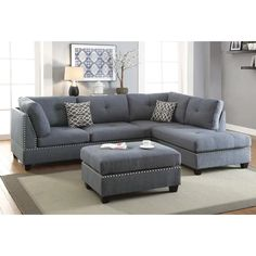Sofas : Simmons Couch Big Lots Decorating With Black Furniture In The Living Room Bonded Leather Sectional Sofa. Sectionals: The Benefits of Sectional Sofas As Living Room Furniture Part Couch & Loveseat Set. Floral Sofas For Sale. Fabric Sofa With Wood Couch With Ottoman, Sectional Ottoman, Grey Sectional, Living Room Sectional, Living Room Furniture, Living Room Decor, Fabric Sectional, Gray Sofa, Furniture Stores