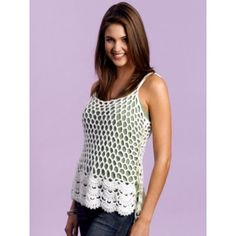 Work up this Bright and Beautiful Crochet Tunic for a stylish piece of spring or summer clothing. The beautiful design on this crochet shirt is light and airy so that you can keep cool on even the warmest of days. Gilet Crochet, Crochet Tunic, Crochet Clothes, Free Crochet, Crochet Crowd, Beginner Crochet, White Crochet Top, Crochet Summer Tops, Crochet Tops