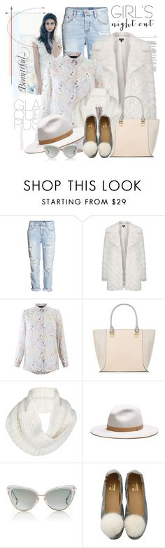 """""""Sem título #2500"""" by bellerodrigues ❤ liked on Polyvore featuring Topshop, New Look, UGG Australia, rag & bone and Dita"""