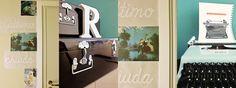 lettering mania - scritte ingresso - i diari dell'appartamento