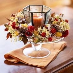 Elegant Table Decorations For Thanksgiving Holiday.