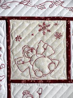 I finished Karen's Winter Wonderland quilt in time for Christmas.  (This is a Karen from my guild here in Wichita, not the Karen from ...