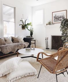 Boho living rooms to