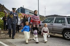 03 AUGUST 2014  Crown Prince Frederik and Crown Princess Mary Crown Prince Frederik,Crown Princess Mary and their children visited Qaqortoq,Greenlad