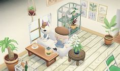 """""""Merry asked for an art studio, so I couldn't be more excited her to give her a minimalistic room FULL of plants, I love the contrast of the bright greens withe the soft whites and woods of the..."""
