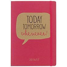 Buy Go Stationery Today Tomorrow Whenever! A5 Mid-Year Diary Online at johnlewis.com