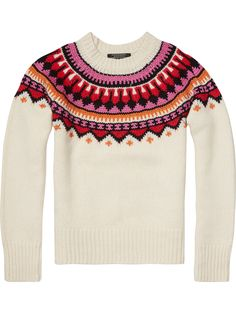 Chunky Jacquard Pullover | Pullovers | Ladies Clothing at Scotch & Soda