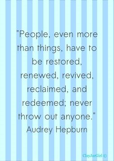 Yep.  This is a good reminder.  And Audrey is so timeless.