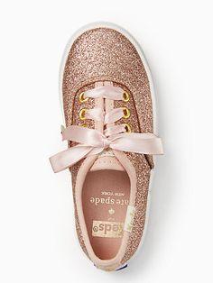 Keds Kids X Kate Spade New York Champion Glitter Toddler Sneakers, Rose Gold - Size 7.5