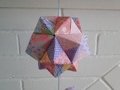 Kusudama origami mobile | by Manue@PrettyKiku