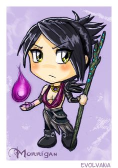 Morrigan chibi by Evolvana.deviantart.com on @deviantART