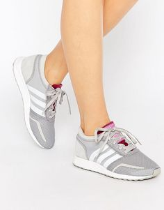 Image 1 of Adidas Los Angeles Grey Trainers Grey Trainers 42b5cd399