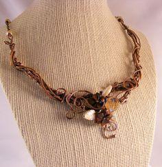 Copper Necklace - Wire Jewelry