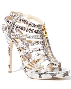 00cadfc7a13f One pair of snakeskin shoes is a must in every closet! I adore the zipper  on these Jimmy Choo  Glenys  Elaphe Watersnake Sandals.