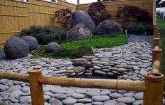 japangarten ideen teich moos landschaft bambus gartenzaun