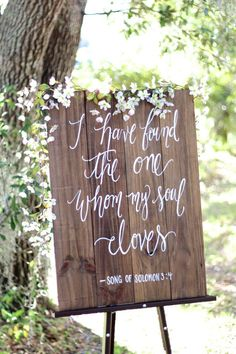 Rustic Wooden Wedding Sign // I have Found the One Whom My Soul Loves (WD-27) by ThePaperWalrus on Etsy https://www.etsy.com/listing/218818700/rustic-wooden-wedding-sign-i-have-found