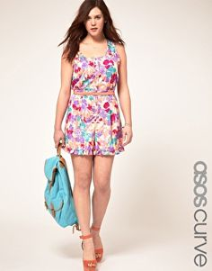 Fun floral playsuit by ASOS curve