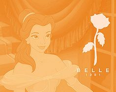 Belle: I love that my favorite Disney princess (movie) came out the year I was born, and that her ''symbol'' is a rose. <3