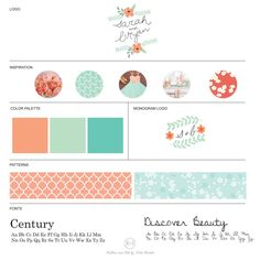 So…what is wedding branding? | The DC Ladies Backyard Garden Shower | Inspiration board | Preppy | Coral & Turquoise | Created by Ribbon and Ink by Katie Durkski