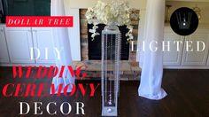 DIY WEDDING CEREMONY DECOR | DOLLAR TREE LIGHTED WEDDING AISLE DECOR | B...Use acrylic sheets instead of glass!!!!!
