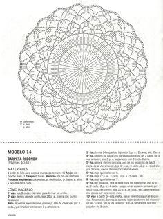 "Photo from album ""Croche - Arte experto on Yandex. Crochet Doily Diagram, Crochet Mandala, Crochet Chart, Filet Crochet, Crochet Motif, Diy Crochet, Sewing Stitches, Crochet Stitches, Embroidery Stitches"
