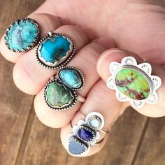 New one of a kind rings in the shop! And perfect timing -- you can save 15% on your purchase this Sunday and Monday with code TRICKORTREAT15